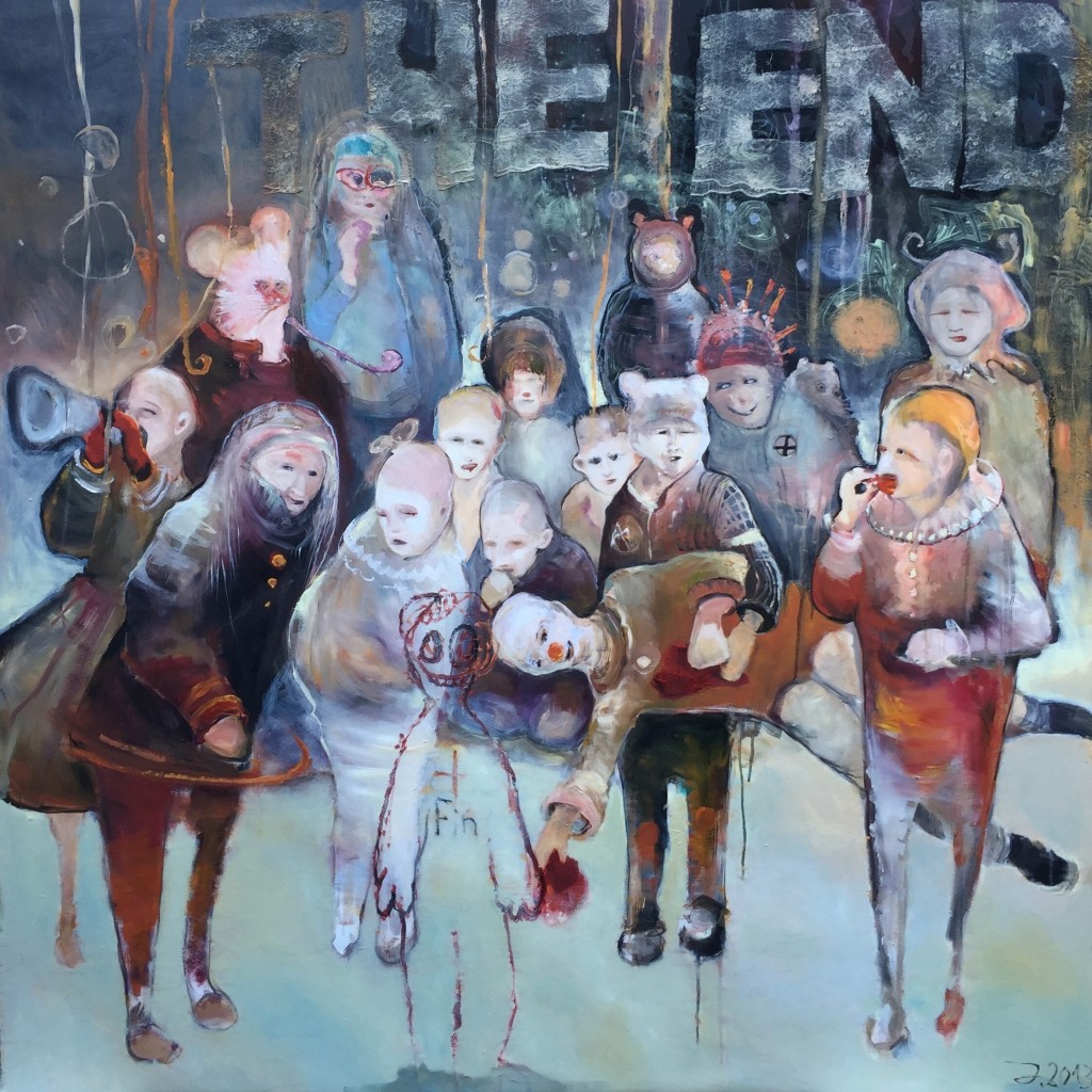 Juliane Hundertmark The End 2013 150 x 140 cm mixed media on canvas