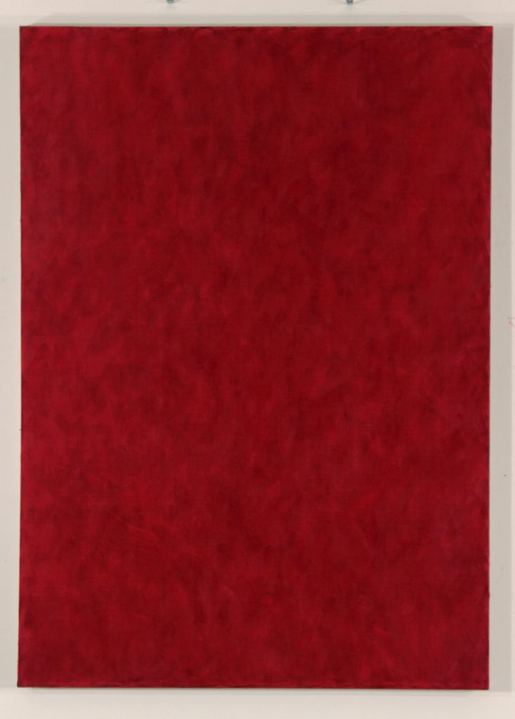 Anders Knutsson 'Red Hot' 2015 148 x 105 cm Wax Oil on Linen