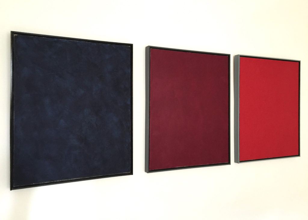 Anders Knutsson 'Anna Maria Island Triptych' 2014 3 panels, 80 x 70 cm per panel Wax Oil on Linen