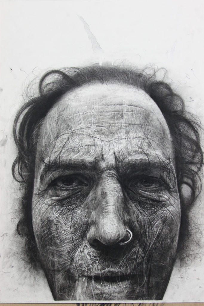 Douglas McDougall 'Soul Catcher' 2010 39 x 31 inches / 100 x 80 cm Charcoal on Paper $6,000