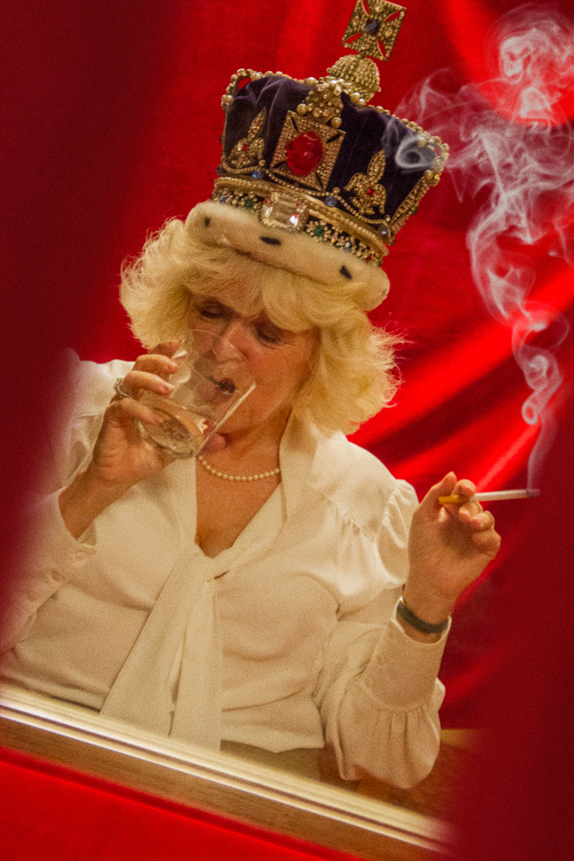 Alison Jackson: Camilla Smoking