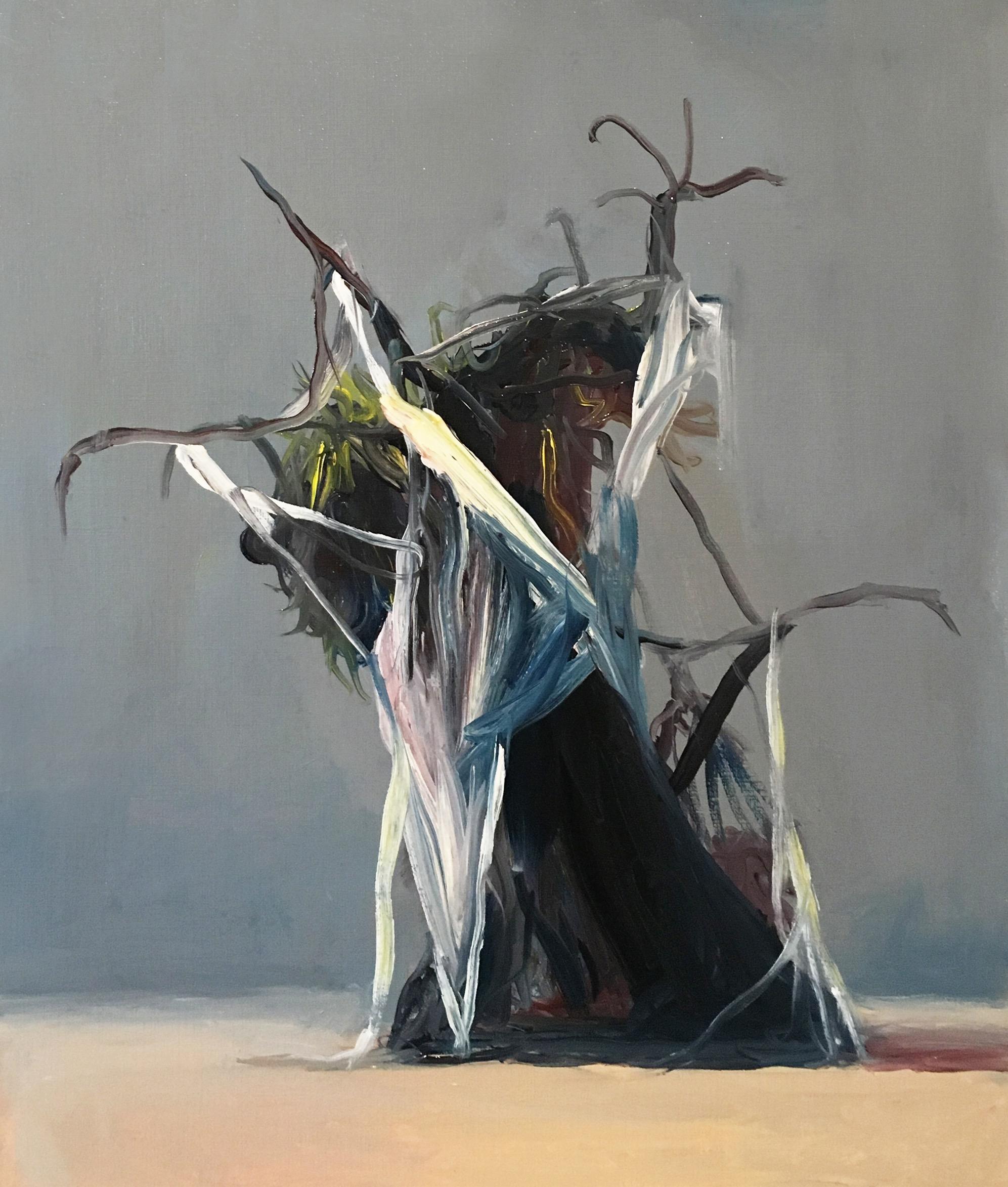 Joseba Eskubi: No.28 'Untitled – (Grey and salmon)'