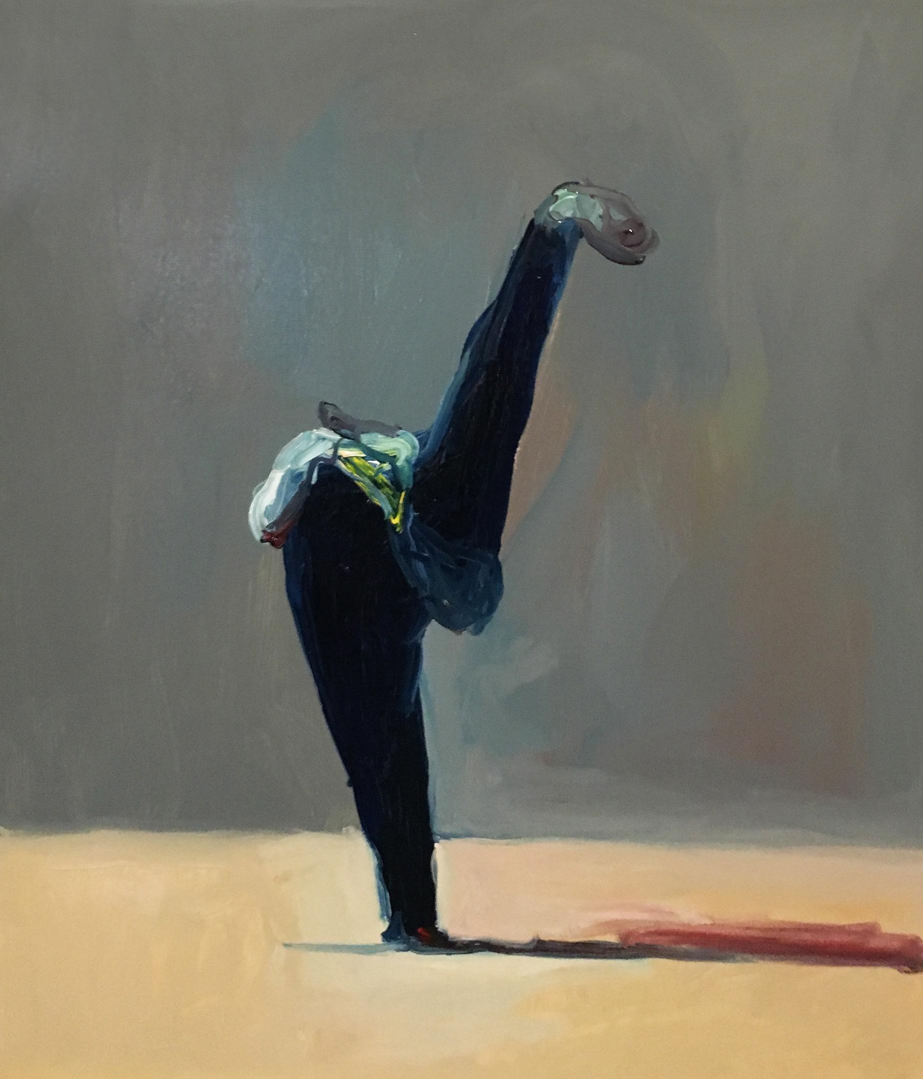Joseba Eskubi: No. 31 'Untitled – (Dark blue on grey)'