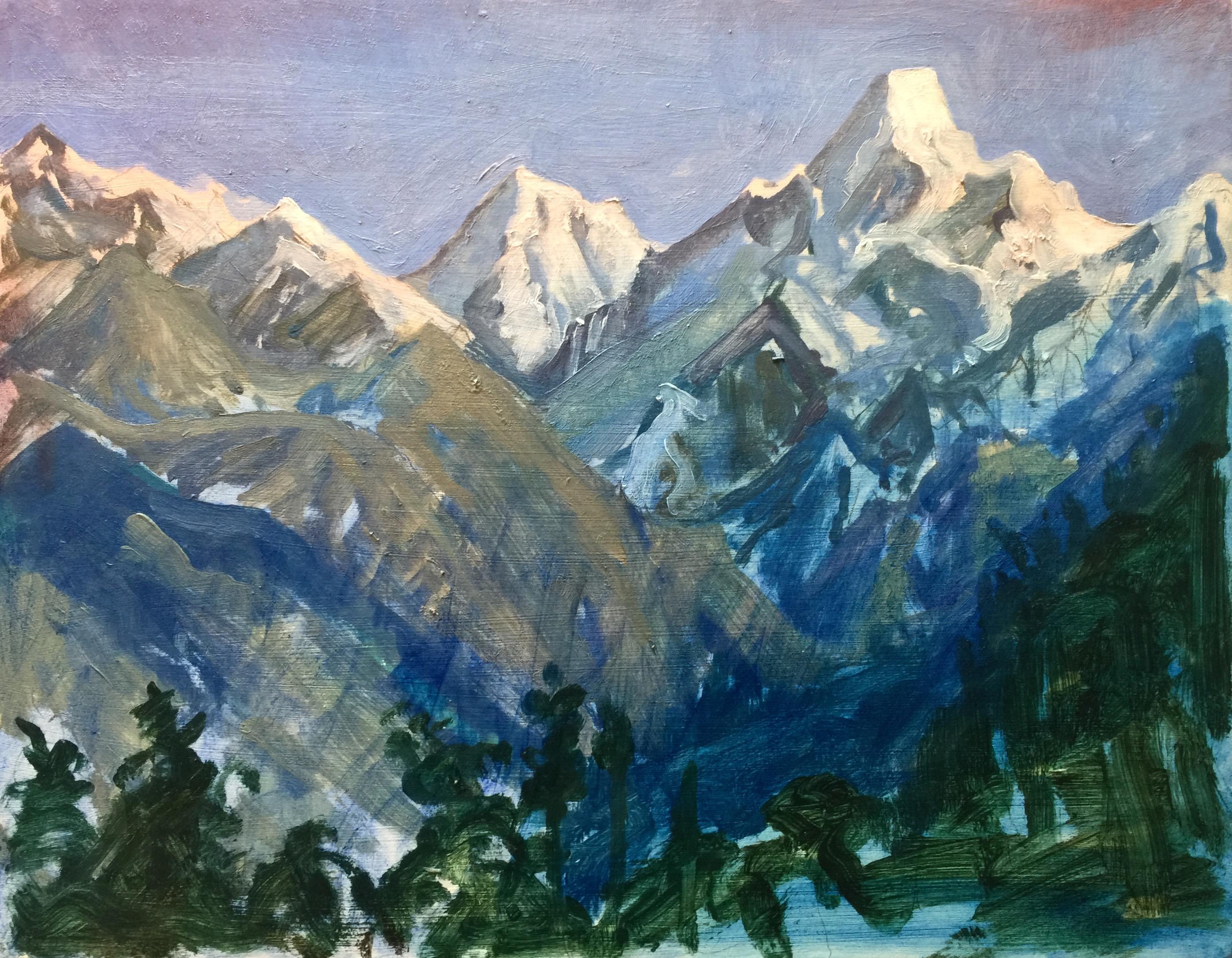 Tobit Roche: Himalayan Landscape No.4