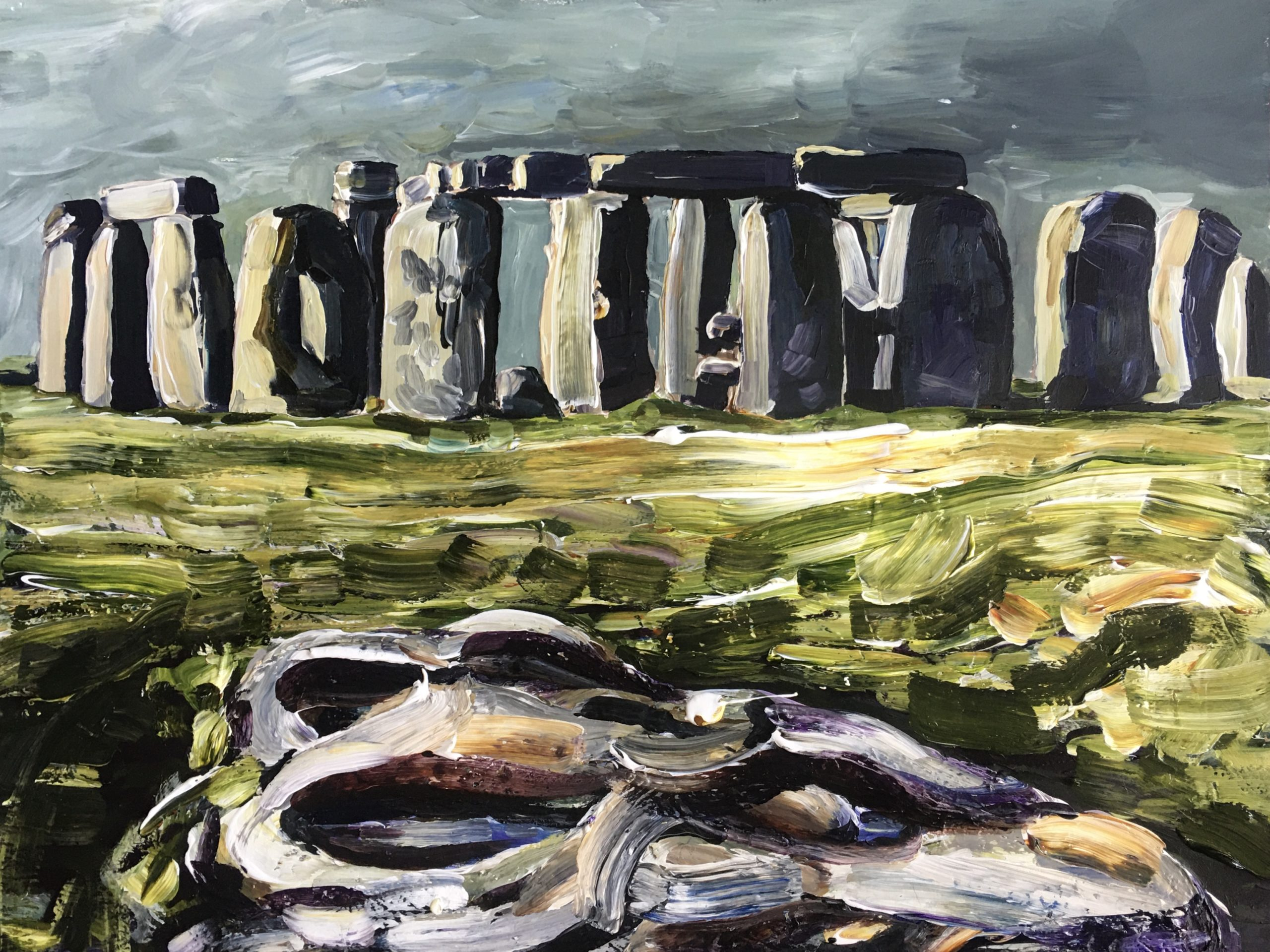 Rufus: Slaughter Stone and Stonehenge after the rain